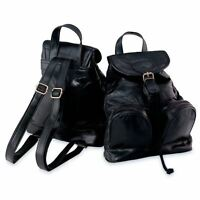 Maxam® Italian Mosaic™ Design Genuine Lambskin Leather Backpack/Purse