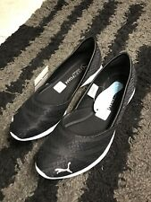 PUMA Womens Vega SL Ballet Flat Slip On Sneakers Size 8.5 NWB Shoes NEW Black