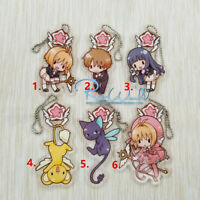 Anime Card Captor Sakurat Acrylic Keychain Key Ring Straps Rare cosplay