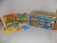 Complete Vintage 1986 Playskool 1 2 3 Sesame Street Mr. Hooper's Playset & Box