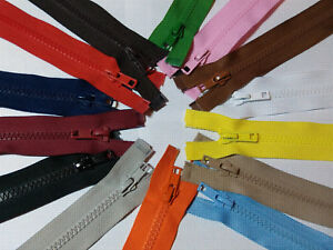 Chunky Teeth Zip Heavy Duty Zipper-No.5 Open End Various Lengths - (20-Colours)