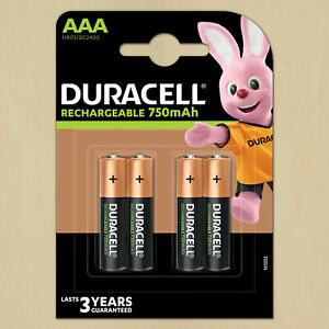 Duracell Rechargeable Batteries duracell AAA  750mah rechargeable