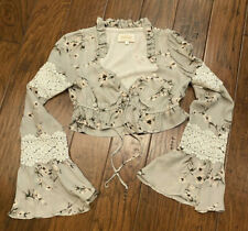 Stone Cold Fox Cropped Lace Blouse Size 2 Med