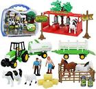 Kiddie Play Farm Toys Set with Farm Animals for Toddlers (25 Pieces)