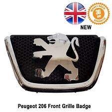 Peugeot 206 Front Grille Badge Lion Logo Emblem Bonnet Chrome 7810C5 New