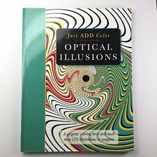 Optical Illusions Coloring Book 120 illustratrations - Just Add Color (Barrons)