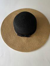 MAGID HATS Natural & Black Straw Hat