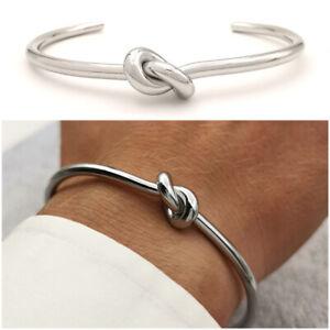 Bracciale da uomo in acciaio nodo rigido inossidabile braccialetto con inox