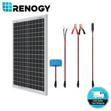 Renogy 30W 12V Mono Solar Panel Starter Kit w/ 5A Controller 12V Battery Charger