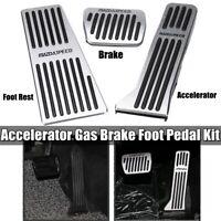 Car Gas Fuel Brake Foot Pedal Kit Set For Axela Atenza Mazda M3 M6 CX9 CX5 CX3