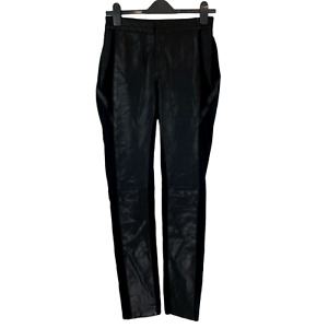 Catherine Deane Black Leather Trouser w/Elasticated Waist. UK Size 10. EXC CON.
