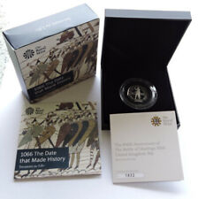 More details for 2016 royal mint silver proof 50p battle of hastings cased with coa and outer box