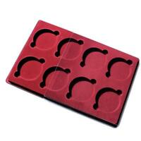 MEDALS AND ORDERS COLLECTION RED TRAYS(8x Circular - ø 70mm) CEZAR