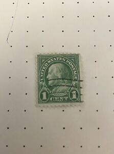 Rare One Cent Benjamin Franklin Stamp  - 11 Perf - 1900s - Unwatermark - VG