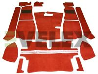 MGB ROADSTER CARPET SET & BOOT 11PCE CLARET RED  CARRELLI WITH HESSIAN BACKING
