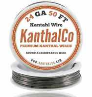 KanthalCo Kanthal Wire 24 Gauge AWG A1 50ft Roll 0.51mm 2.04 ohms/ft. Resistance