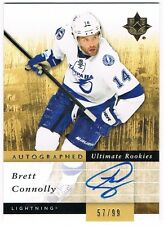 2011-12 ULTIMATE COLLECTION ROOKIE AUTOGRAPH #144 BRETT CONNOLLY /99 !!