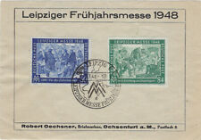GERMANY : LEIPZIG 1948 illustrated sheet for the Leipzig Spring Fair-FDI cancel