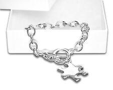 Autism Awareness Puzzle Piece Charm Bracelet