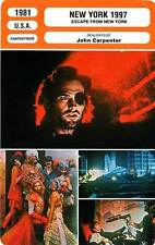 FICHE CINEMA : NEW YORK 1997 - K.Russell,J.Carpenter 1981 Escape from New York
