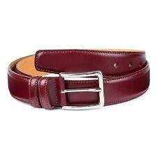 """Burgundy Leather Belt for Men Smooth Fashion Mens Belts Dark red calfskin Sz 40"""""""