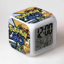 Hot Pokemon Anime Alarm Clocks 7 Color Change LED Digital Children Bedroom #6 MT