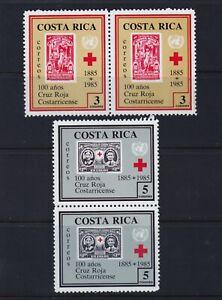1985 COSTA RICA RED CROSS CENT. FLORANCE NIGHTINGAL NURSE SCT.327-8 MI.1248-9