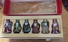 New listing Vintage Old World Christmas Glass Santa Light Covers Set Of 6