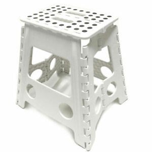 LARGE Folding Step Stool Plastic Foldable Flat Outdoor Camping Chair Portable
