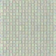 Iridescent Glass Mosaic Wall Tiles Pearl Bathroom Shower Lustrous White MT0095