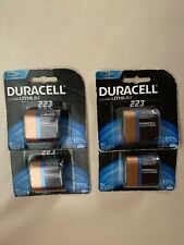 Duracell Ultra Lithium 223 Batteries 6V CRP2 DL223 EL223 Exp 2024  LOT OF 4