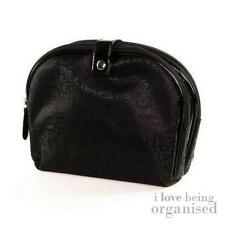 Double Sided Cosmetic Wash Bag Black Travel Makeup Essentials Purse