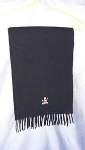 POLO RALPH LAUREN Wool Bear Scarf black Made in Scotland cool