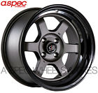 15X8 +0 ROTA GRID-V 4X114.3 GUN METAL BLACK LIP WHEEL Fit Mazda Rx7 Falcon Comet