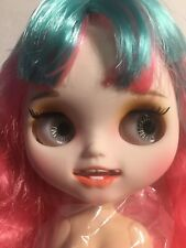 """12"""" Factory blythe 1/6 BJD Pink Mix Hair custom doll Carved lip Open mouth"""