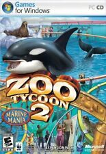 Video Game PC Zoo Tycoon 2 Marine Mania 2006 WITH SLIP COVER COMPLETE
