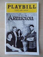 October 2011 - Cherry Lane Theatre Playbill - Asuncion - Remy Auberjonois