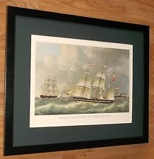 "1978 Vintage /""CLIPPER SHIP NIGHTINGALE NY NYC/"" CURRIER /& IVES COLOR Lithograph"