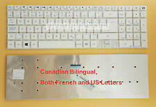For Gateway NV52L06u NV52L08u NV52L15u NV52L23u Keyboard Canadian French White