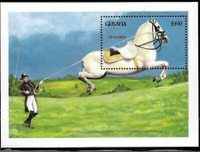 #1960 GUYANA 1992 HORSE TRAINING S/SHEET YV BL 99 MNH