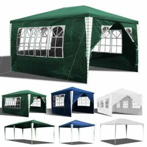 Pavillon 3x3-3x9m Partyzelt Gartenzelt PE Plane Wasserdicht Zelt Sonnenschutz