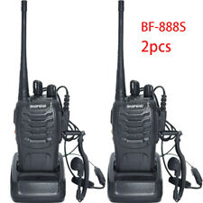 2pcs BAOFENG BF-888S Handheld Two-way Ham Radio Walkie Talkie UHF 400-470MHz 5W