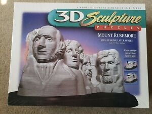 Mount Rushmore 3D Sculpture Puzzles Challenging Layer Puzzle 1998