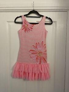 Girls Kate Mack Pink Flower Dress Age 8