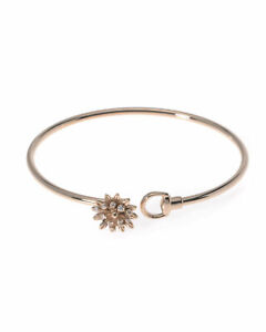 Gucci 18ct Rose Gold Diamond Flora Bracelet £2650