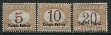 Eritrea 1920 5, 10, and 20 centesimi overprinted Postage Dues mint o.g. hinged