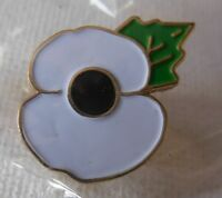 White Poppy pin badge. Peace. Lest We Forget. Great War WWII Soldier  LAST FEW