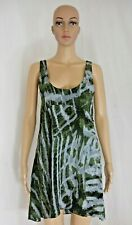 One Teaspoon Womens Green Gray Sleeveless Long Tunic Top Dress Light Size 6