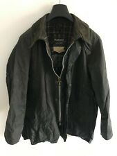 Mens Barbour Beaufort wax jacket Blue coat 44in size Large / Extra Large L/XL #5