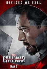Captain America Civil War Movie Poster (24x36) - Robert Downey Jr., Iron Man v4